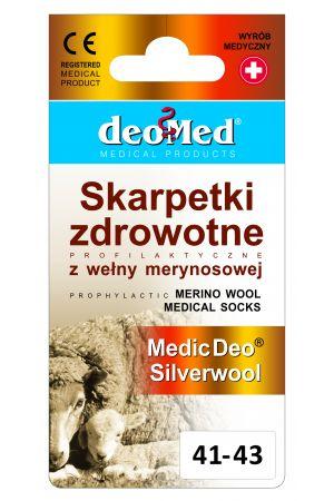 Skarpetki zdrowotne z wełną merynosową i srebrem MEDIC DEO SILVERWOOL